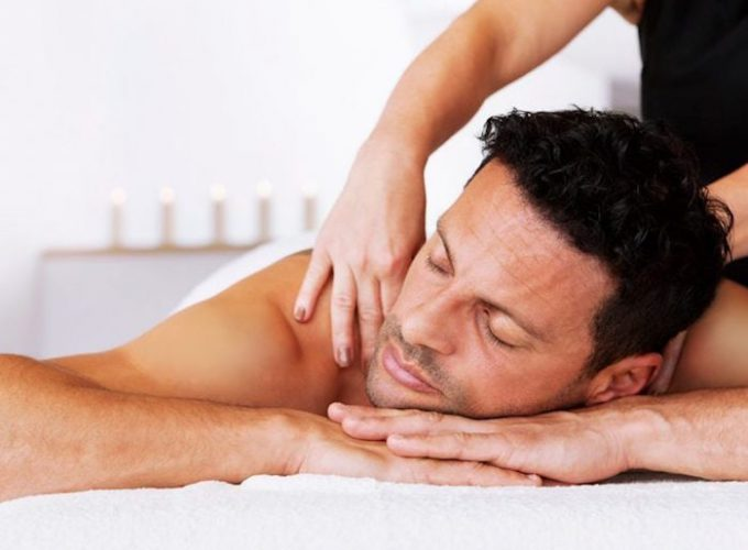 man getting deep tissue massage