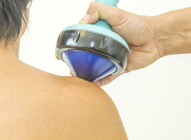 shockwave therapy on shoulder